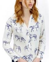 Joules Rosamund Horse Design Blouse