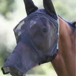 SHIRES FINE MESH FLY VEIL WITH EARS AND NOSE-6654
