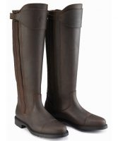 Caldene Buckland Waxed Long Leather Boot (CD431)