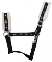 HKM Maxime Nylon Headcollar With Plush Padding- 6140