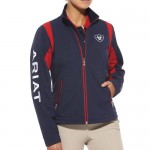 Ariat Ladies Team Softshell Jacket Navy & Red- 10008830