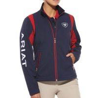 Ariat Ladies Team Softshell Jacket Navy & Red- 10008830