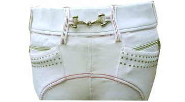 Loveson Bling Snaffle Ladies White Breeches