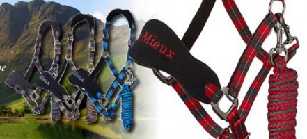 Lemieux Signature Tartan Design Headcollar and Leadrope Set