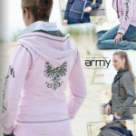 Esperado Army Ladies Sweat Jacket- 16035