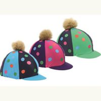 Shires Pom Pom Hat Cover With Spots- 843