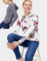 Joules Marlston Ladies Long Sleeved Hooded Top-VMarlston