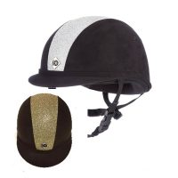 Charles Owen YR8 Silver/Gold Sparkly Centre Riding Hat - PAS015