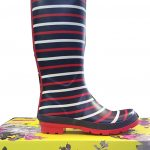 Joules Wellies Navy London Stripe - W_Wellyprint