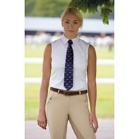 Shires Ladies Sleeveless Show Tie Shirt - 9983