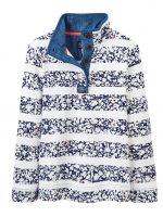 Joules W Cowdray Funnel Neck Sweatshirt - Mara Ditsy Stripe