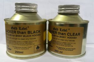 Gold Label Hoof Polish -Black / Clear - 250ml