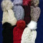 Fenside Fur Lined Pom Pom Hats