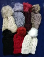 Fenside Fur Lined Pom Pom Hats