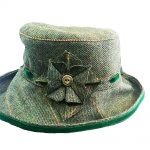 Peak and Brim Alexia Green Tweed Hat Large Brim